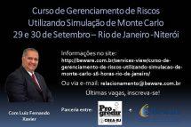 Últimas vagas: Curso de Gerenciamento de Riscos Utilizando Simulação de Monte Carlo – 29 e 30/09/2016 em Niterói – RJ