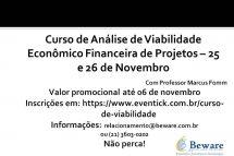 Aproveite o valor promocional para o Curso de Viabilidade Econômico-Financeira até 06 de novembro