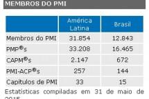 Estatística de membros do PMI