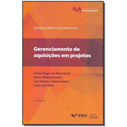 Livro GERENCIAMENTO DE AQUISIÇÕES EM PROJETOS