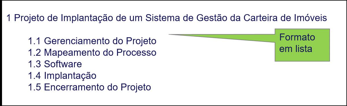Figura 2 – EAP no formato gráfico